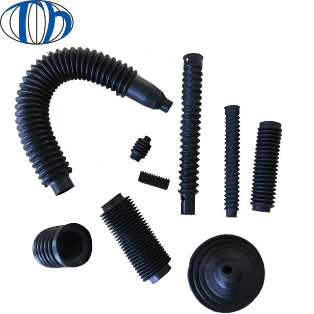 Custom molded various shape flexible Auto car accessories NBR NR silicone Rubber Dust cover / rubble sleeve